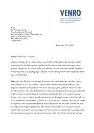 Frau Dr. Angela Merkel Vorsitzende der Christlich ... - Venro