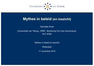 Mythes in beleid (en toezicht) - Inspectieloket
