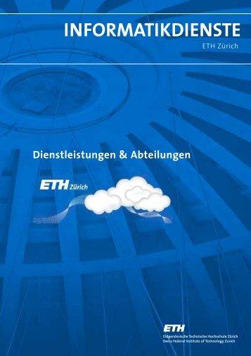Überblick 2013 - ID Abteilungen & Dienstleistungen - ETH Zürich