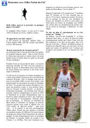 ... Rencontre avec Gilles Farina du FAC - Nico la Clusaz