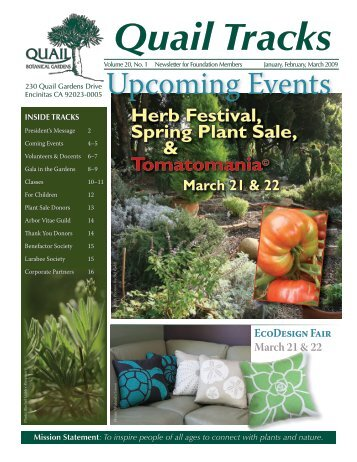 Quail News.indd - San Diego Botanic Garden
