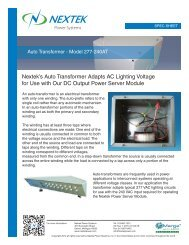 Nextek's Auto Transformer Adapts AC Lighting Voltage for Use with ...