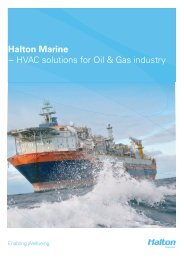 Halton Marine − HVAC solutions for Oil & Gas industry