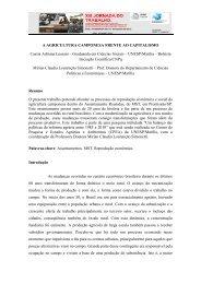 a agricultura camponesa frente ao capitalismo - SciELO Proceedings