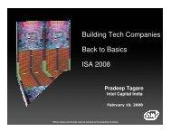 Building Tech Companies Back to Basics ISA 2008