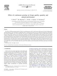 Effect of continuous grazing on forage quality, quantity and animal ...