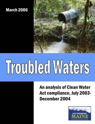 An analysis of Clean Water Act compliance, July 2003- December ...