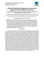 Effects of Bacillus thuringiensis on the larval stages of ... - irjabs.com