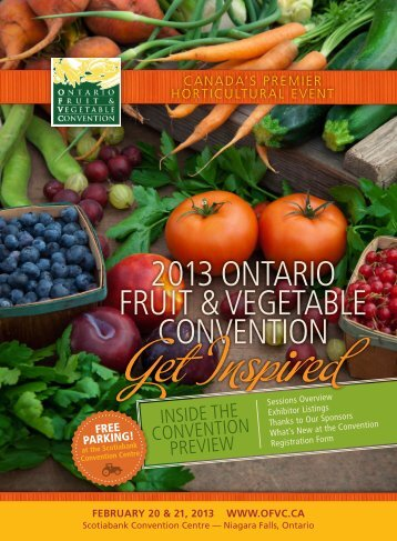 2013 ontario Fruit & vegetable convention - Ontario Fruit and ...