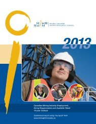 Canadian Mining Industry Employment, Hiring Requirements ... - MiHR