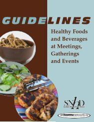 Healthy Meeting Guide - Get Healthy Clark County