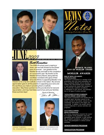 june 2009 (printable) - Login - Archbishop Moeller High School