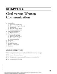 Oral versus Written Communication - Pearson Learning Solutions