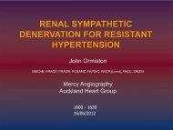 renal sympathetic denervation for resistant hypertension