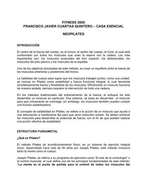 fitness 2005 francisco javier cuartas quintero – casa ... - Comfama