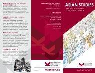 ASIAN STUDIES - Kwantlen Polytechnic University