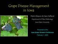 Grape Disease Management in Iowa - Viticulture Iowa State University