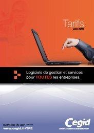Le tarif PDF - Cegid.fr
