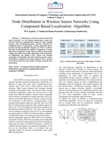 Node Distribution in Wireless Sensor Networks Using Component ...
