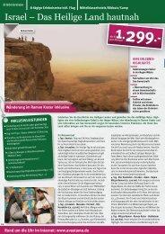 Israel – Das Heilige Land hautnah - AVASTAMA Erlebnisreisen