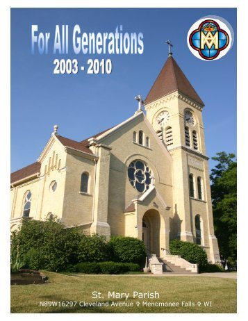 For All Generations Historial Book - St. Mary Parish