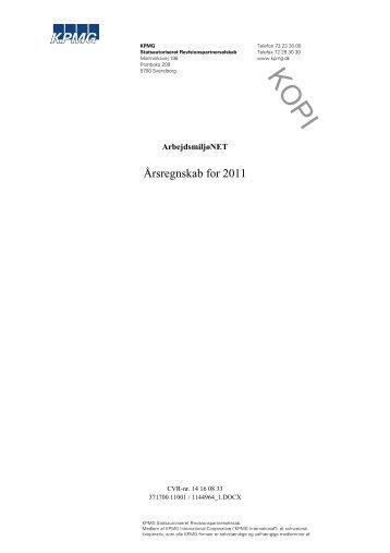Årsregnskab for 2011 - Arbejdsmiljønet