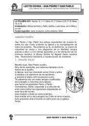 Lectio Pedro y Pablo