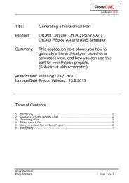 Title: Generating a hierarchical Part Product: OrCAD ... - FlowCAD