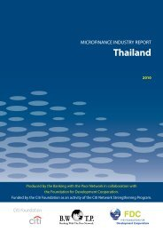 MICROFINANCE INDUSTRY REPORT Thailand - Banking with the ...
