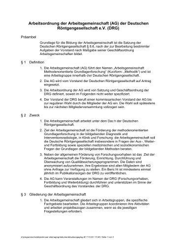 der Deutschen Röntgengesellschaft eV (DRG)
