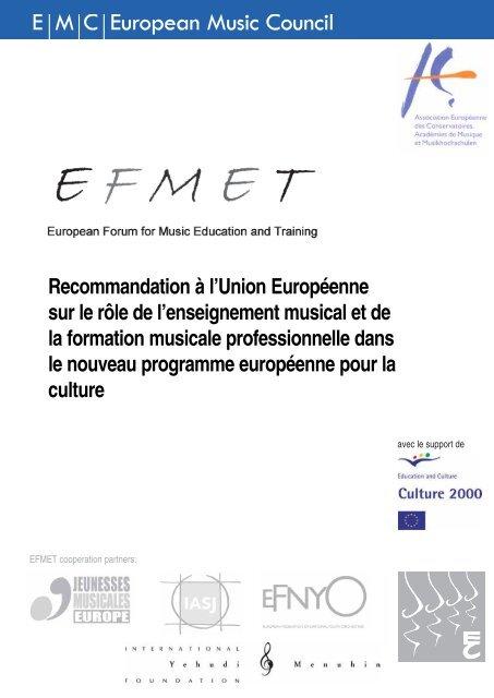 1 Rapport final de «ProMuse», un projet sur l'intégration - European ...