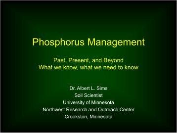 Phosphorus Management