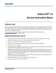Solaria ICP 1.5 Service Instruction Sheet - Christie Digital Systems