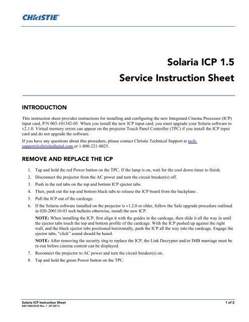 christie solaria manual