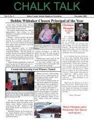 Debbie Whitaker Chosen Principal of the Year - Stokes County ...