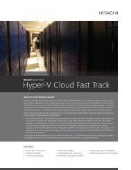 Hyper-V Cloud Fast Track - Hitachi Consulting