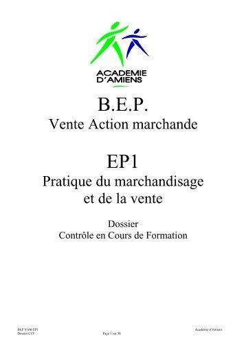 BEP EP1 - Economie et Gestion au lycée professionnel - Académie ...