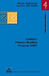 Zambia's Primary Reading Program (PRP) - Global Partnership for ...