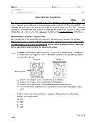 Ch 11 QUIZ - AP Chemistry