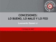 CONCESIONES: LO BUENO, LO MALO Y LO FEO - Biblioteca