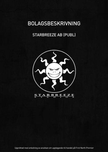 Starbreeze-Bolagsbeskrivning
