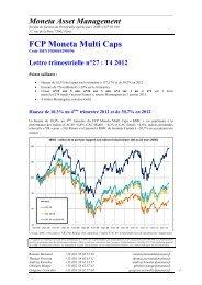 Lettre 4eme trimestre 2012 - Moneta Asset Management