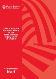 Code of Practice For Food Safety in the Fresh Produce Supply Chain