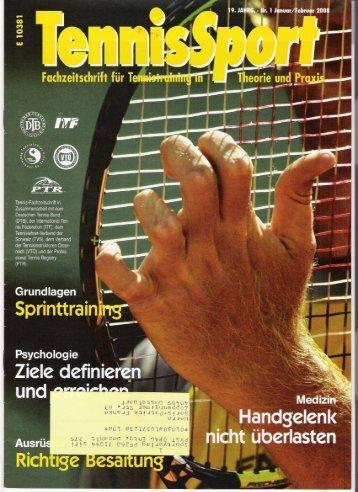 """Tennis Sport"". - Vereinstennisschule Boris Franke"
