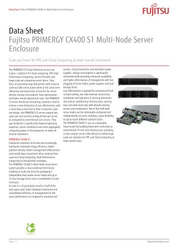 Data Sheet Fujitsu PRIMERGY CX400 S1 Multi ... - Kinetic Solutions