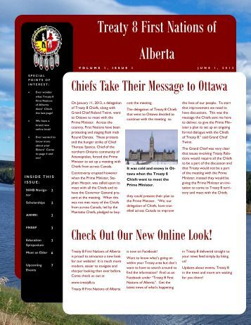 Download the Summer 2013 Newsletter - Treaty 8 First Nations of ...