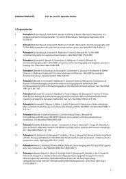 1 PUBLIKATIONSLISTE Prof. Dr. med. H. Palmedo (06/06) I ...