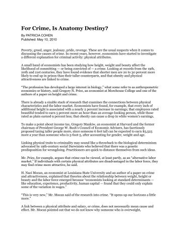 """for crime, is anatomy design?"" - cdgd34102a12"