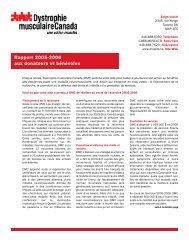 Rapport 2005-2006 à nos bénévoles et donateurs