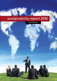 sustainability report 2010 - World Forum